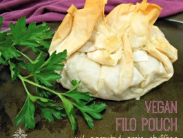 Vegan Sprouted Grain Stuffing Filo Pouches