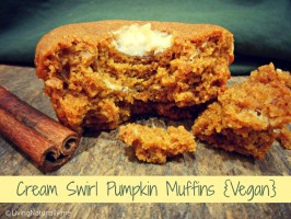 Cream Swirl Pumpkin Muffins {Vegan}